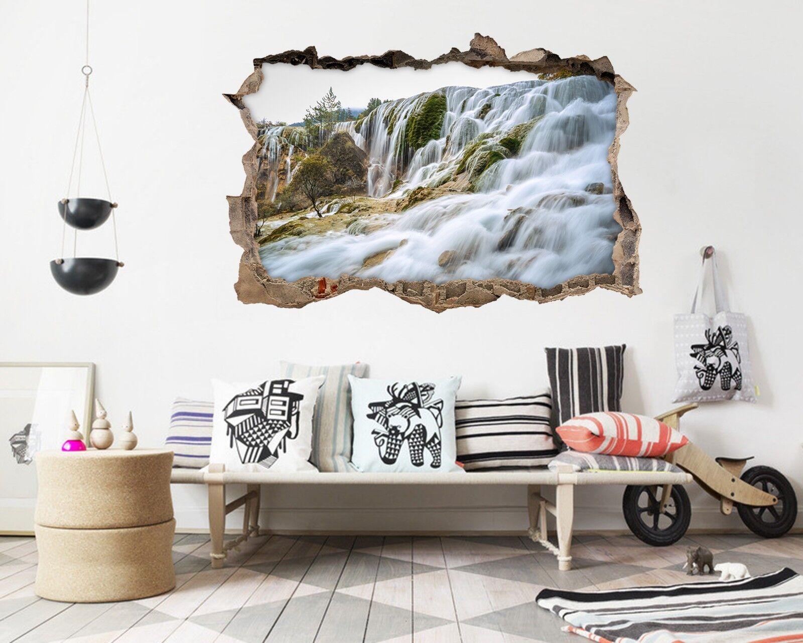 3D Schöner Fluss 14 Mauer Murals Mauer Aufklebe Decal Durchbruch AJ WALLPAPER DE