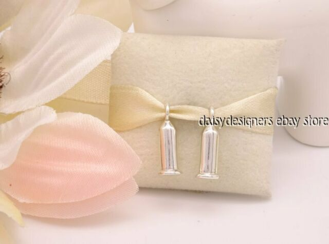 NEW Authentic Pandora Silver EARRING BARRELS 291002 RETIRED