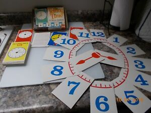 Ed-U-Cards-Telling-Time-Flash-Cards-245-dated-1963-for-ages-5-to-9-Complete