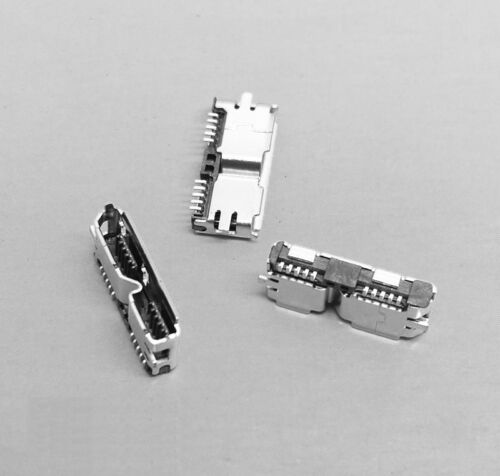 5Pcs Hi-Speed Micro USB 3.0 Femelle 10Pin SMD SMT Socket PCB Soudure Connecteurs