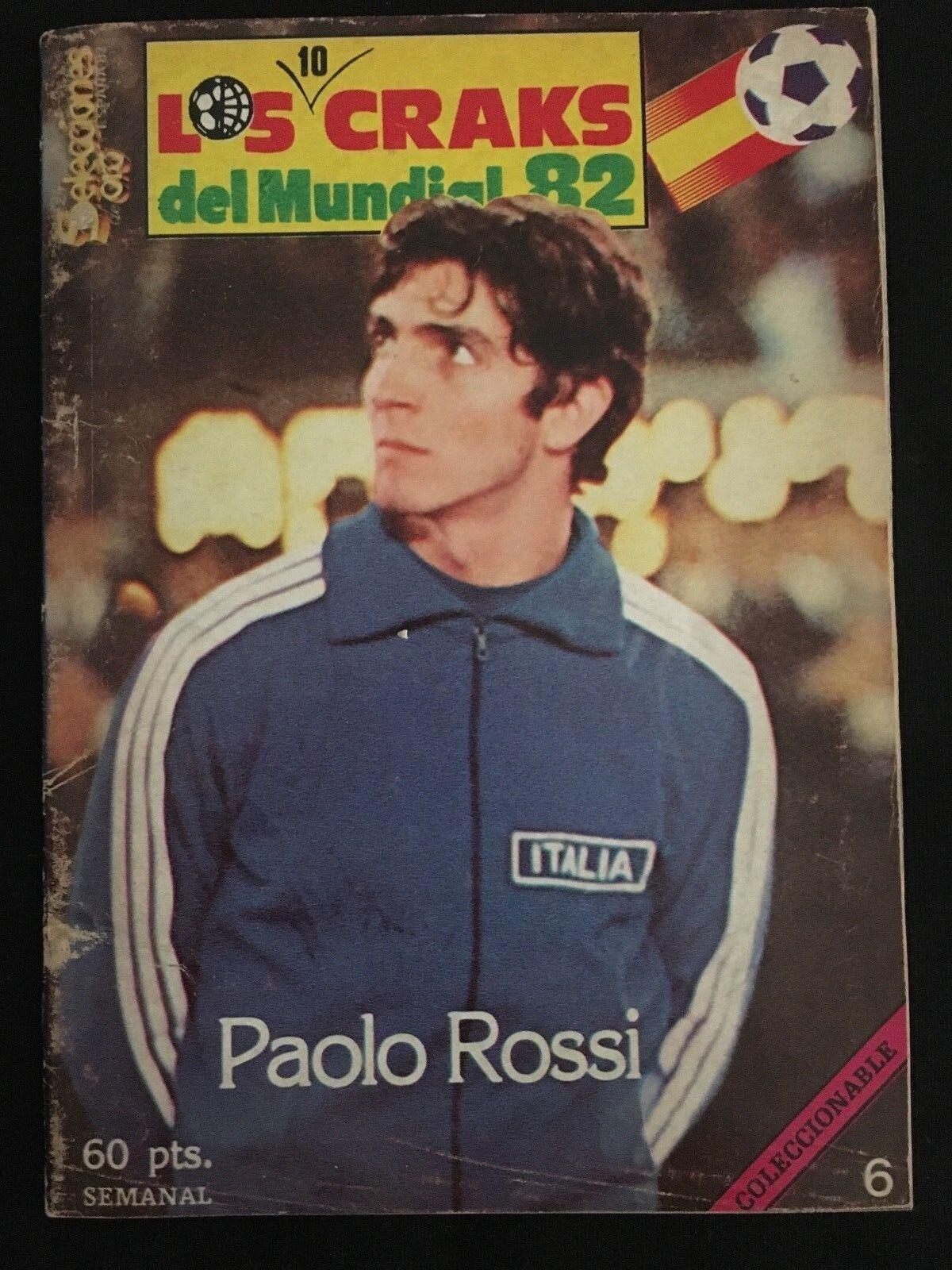 REVISTA LOS 10 CRAKS DEL MUNDIAL 82 FUTBOL ESPAÑA 82 PAOLO ROSSI ITALIA JUVENTUS