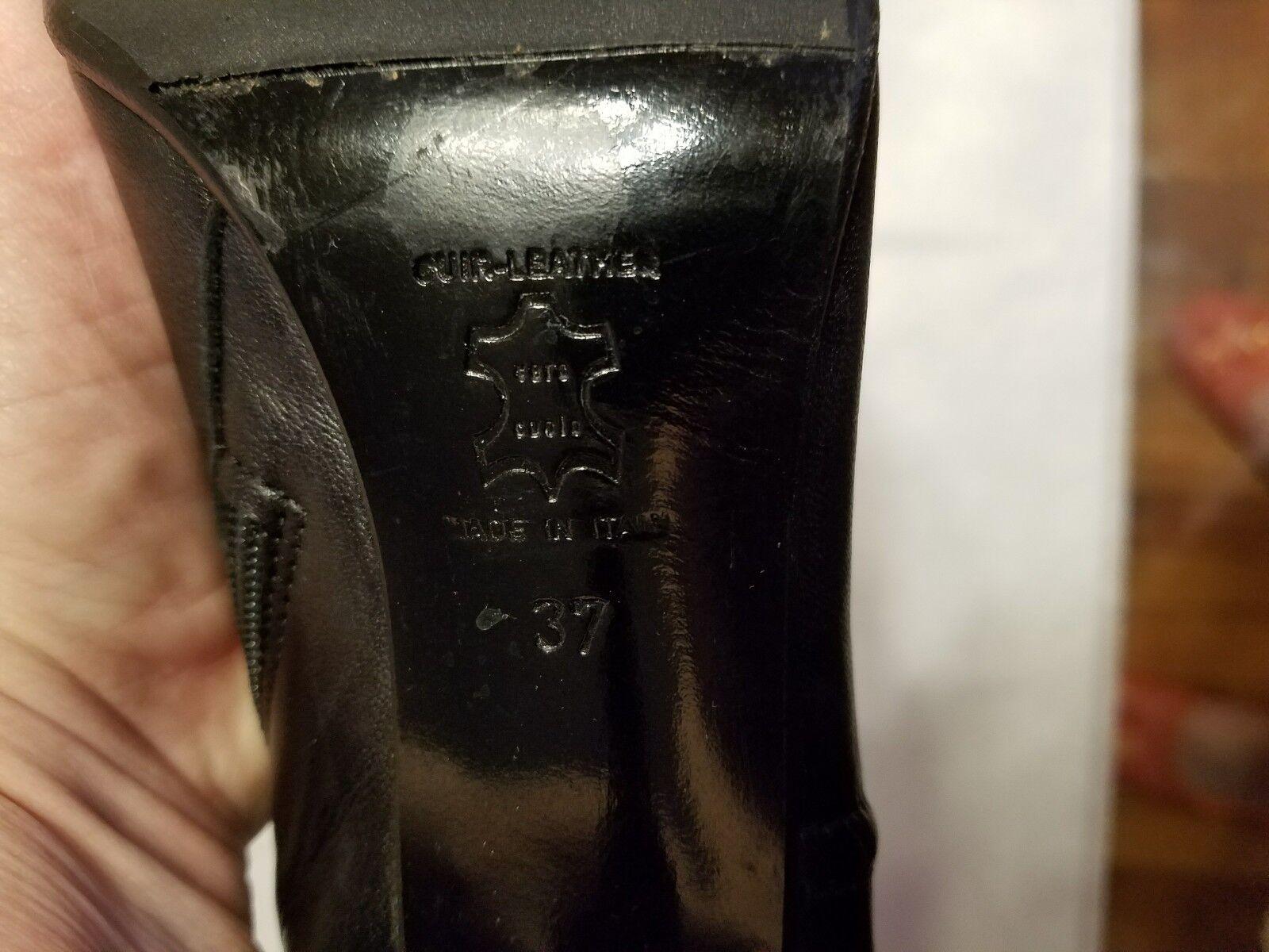 Claudio Stiefel Fracassa schwarz Leder Stiefel Claudio EU 37 66e94d