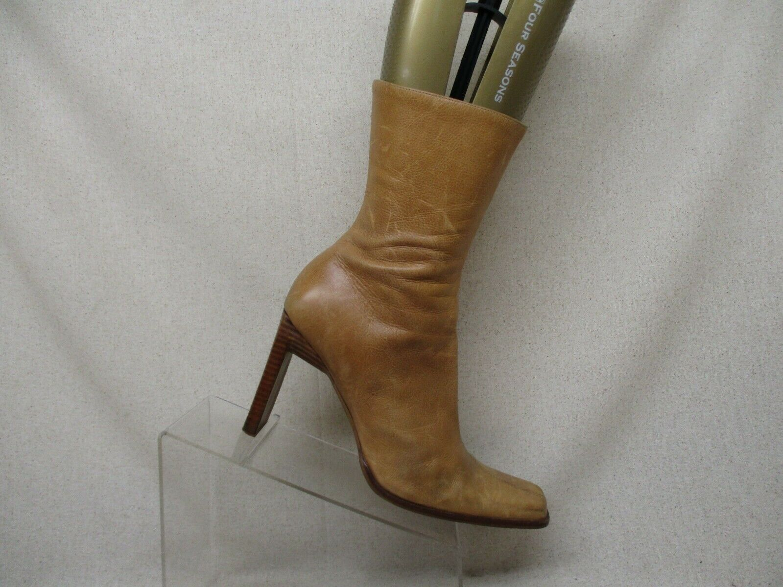 Steve Madden Brown Leather Side Zip High Ankle Fashion Boots Bootie Size 9.5 B