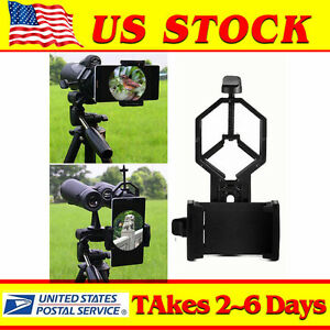 US-Telescope-Spotting-Scope-Microscope-Mount-Holder-Mobile-Phone-Camera-Adapter
