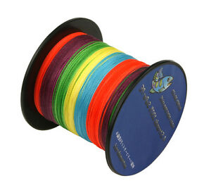 Multicolor100-1000M6LB-300LB Various Color Dyneema PE Spectra Braid Fishing Line