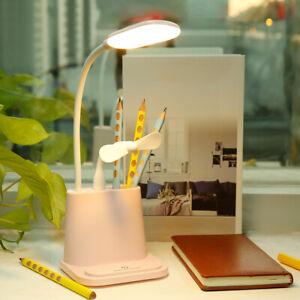 4-in-1-Multifunction-LED-Desk-Table-Light-Lamp-USB-Charger-Study-Pen-Holder-NEW