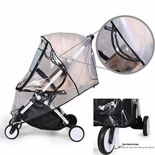 Universal Baby Stroller Pram Rain Cover Pushchair Buggy Wind Shield Transparent