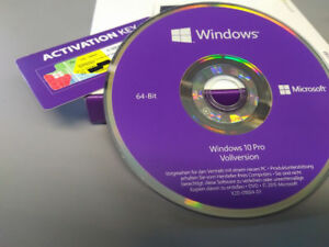 Windows-10-Professionnel-64-bits-d-039-installation-DVD-COA-Key-Autocollants-allemand