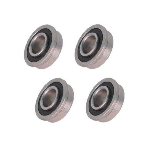 """Four Precision Sealed Flanged 1-1//8/"""" OD x 1//2/"""" ID Bearings"""