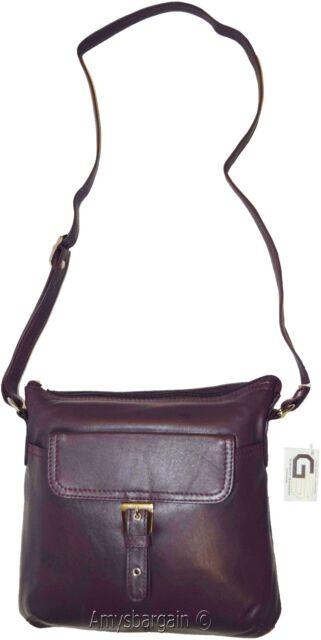 Women's Bag, Ladies handbag, Leather Purple hand bag purse leather Pocketbook BN
