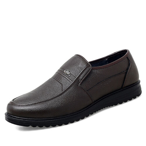 Details about  /Mens Pumps Slip on Loafers Breathable Soft Business Leisure Faux Leather Shoes D
