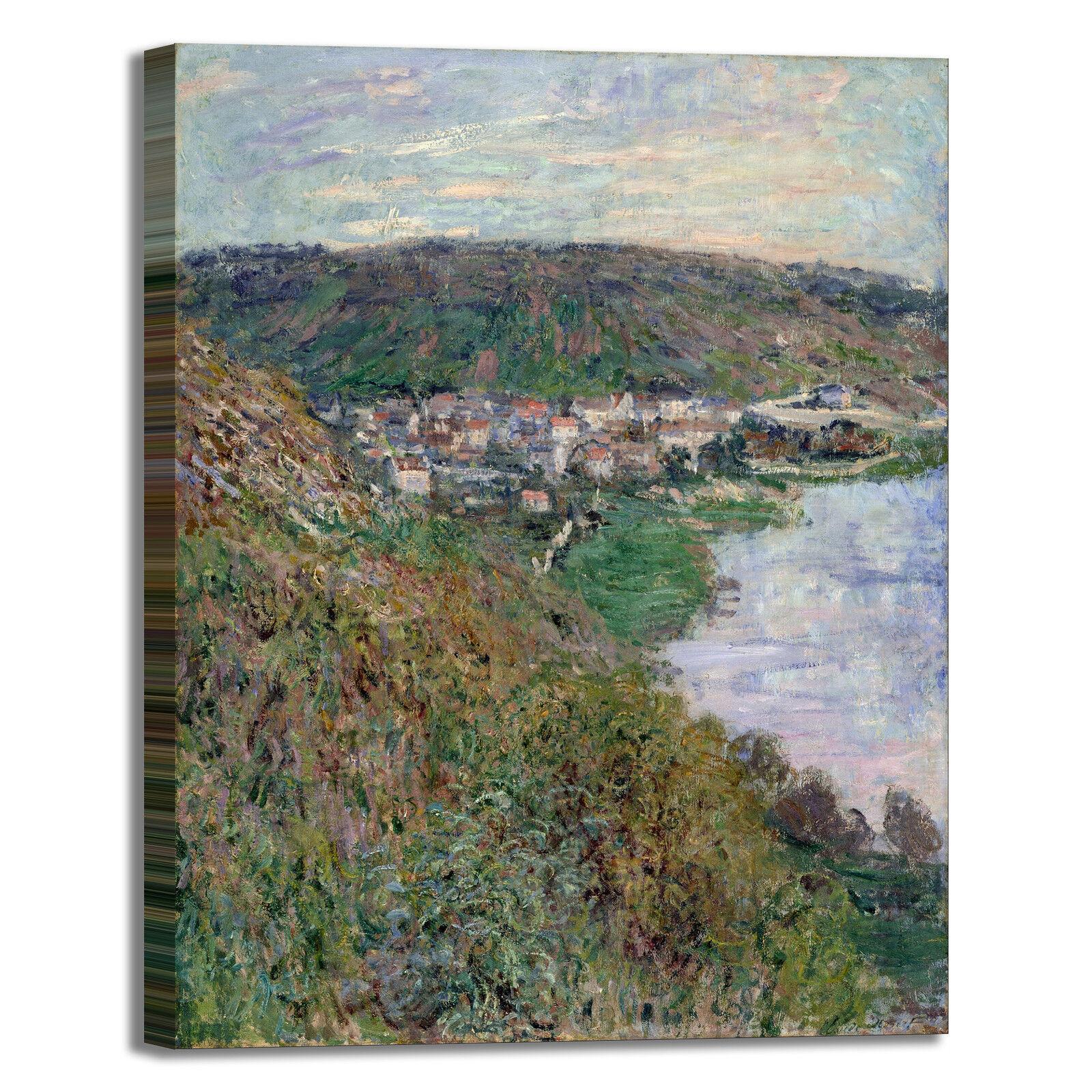 Monet veduta di Vétheuil design quadro stampa tela tela tela dipinto telaio arroto casa 35ba9b