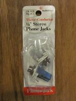 "Radio Shack 274-312b Three-conductor ¼"" Stereo Phone Jack-package Of 2"