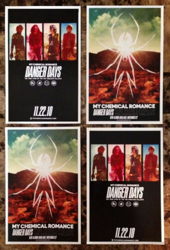 MY CHEMICAL ROMANCE Danger Days Ltd Ed Discontinued Mini Posters +FREE Stickers