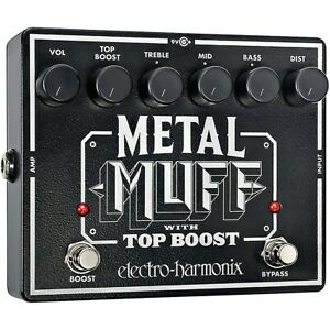 Electro-Harmonix-XO-Metal-Muff-with-Top-Boost-Distortion-Guitar-Effects-Pedal