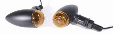 Mini Blinker Set Bullet Metall schwarz glatt für Honda Chopper Custom