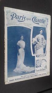 Rivista Settimanale per Lettera Parigi Che Canta N° 166 Mars 1906 ABE