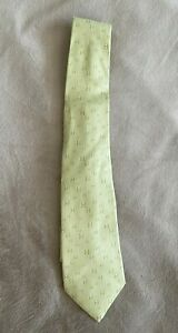 Men-039-s-Hermes-100-Silk-Neck-Tie-made-in-France-Model-5183-Light-Green-H-Pattern