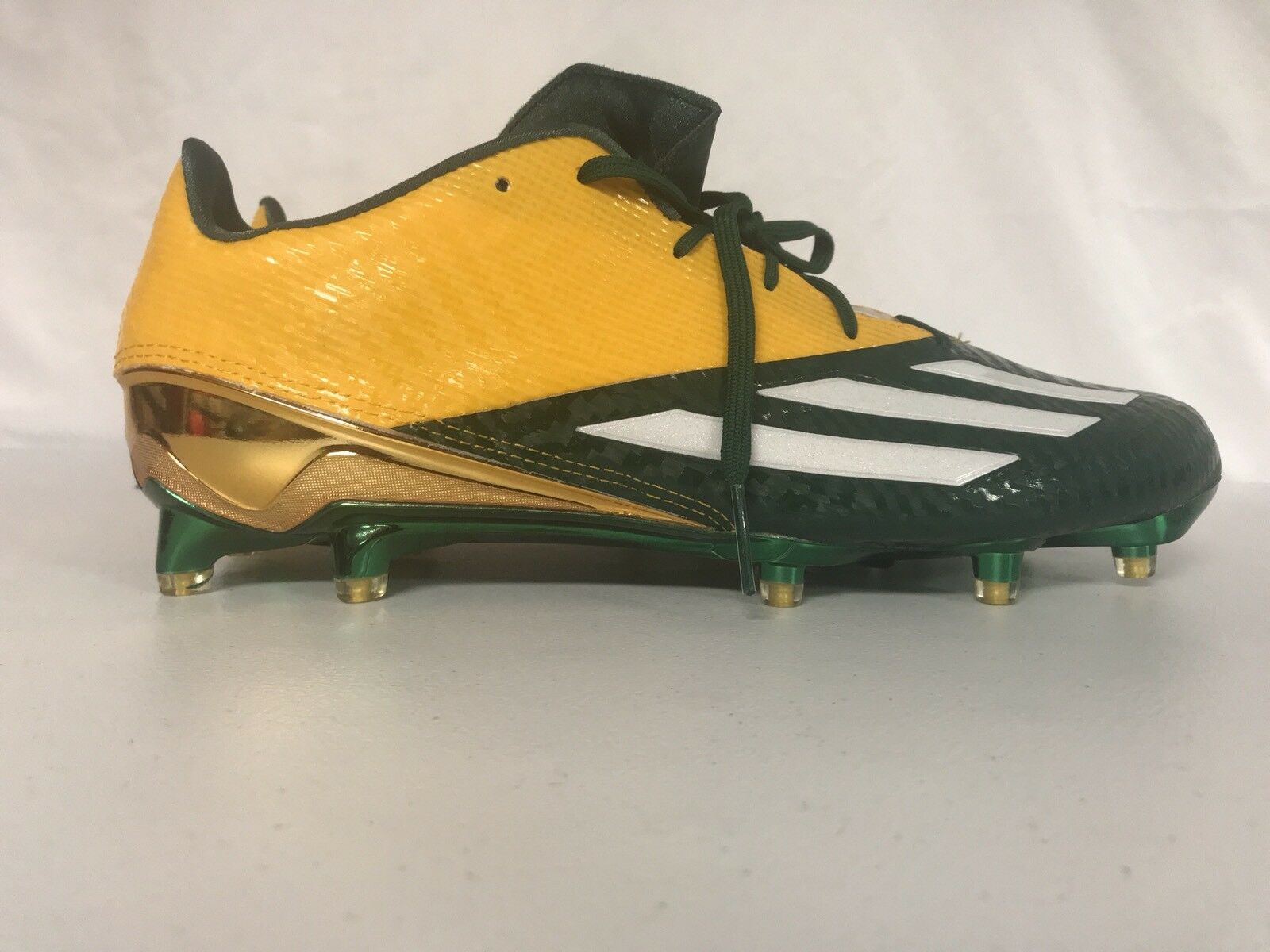 5efe27bffc0 Adidas Men s AdiZero 5 Star 5.0 Football Cleats Green Yellow Size 12 Low Top