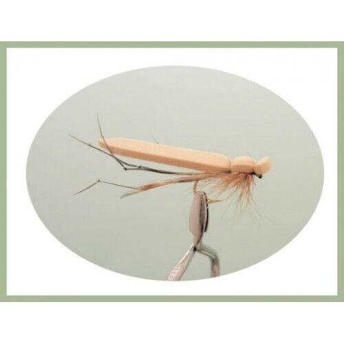 Fishing Flies Trout Flies Flat Foam Tan Daddy Long Legs,6 Pack Size 10