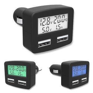 12-24V Dual USB 5V 4,2A Ladegerät Motorcycle LED Spannungsmesser Volt meter