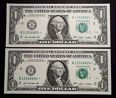 Coins & Paper Money B11526823*/24* Uncirculated The Latest Fashion Lovely 2009 Usa Consecutive One $1 Dollar Star Notes