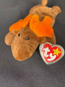 NEW MWMT Chocolate the Moose TY Beanie Babies 1993