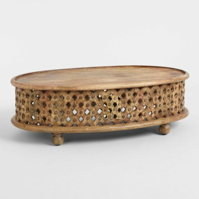 Wood Carving Coffee Table ,Home Antique Coffee Table ,Round Tribal Carved