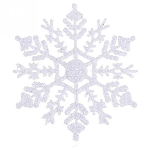 8x New Glitter Snowflake Christmas Tree Decoration Hanging Christmas Ornament