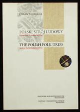 BOOK Polish Folk Costume Museum Guide ethnic dress regional fashion POLAND art
