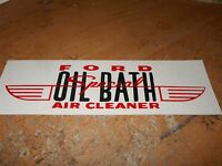 1955 1956 Ford Oil Bath Air Cleaner Special Front Air Cleaner Decal Sticker