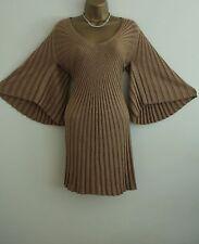 ᴥᴥBNWT MONSOON GOLD KNIT JUMPER DRESS CLEOPATRA SZ S 8 10 FLAPPER 20'S VINTAGEᴥᴥ