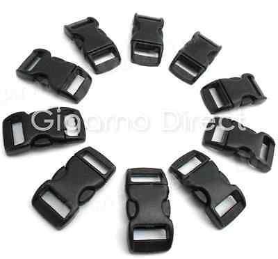 """JOB LOT!! 1900pcs x 10mm (3/8"""") CONTOURED Buckles great for paracord bracelets!"""