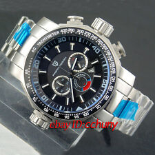 46mm Pagani design Full chronograph sandblast steel case quartz mens watch 2107