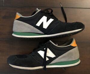 New Balance 420 Talla 7 Pre Propiedad Negro Gris Naranja Y Verde Esquema De Color Ebay