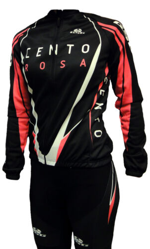 Women's 'Cento' Long Sleeve CYCLING Jersey  - black and Pink
