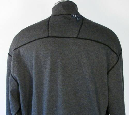 Izod Black /& Gray Reversible 1//4 Zip Pullover Sweater Mens NWT