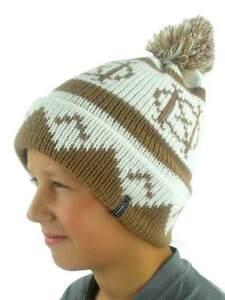 O'Neill Pompom Hat Winter Hat Beanie Billboard Braun Norwegian Pattern