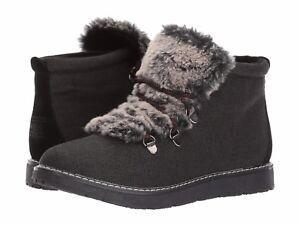 Women's BOBS Skechers 31304/BLK Bobs Alpine City Creek Boot Black Brand New