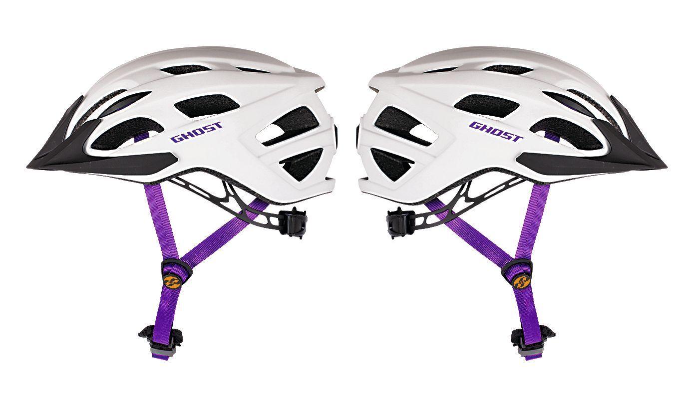 GHOST Bikes Fahrradhelm Helm Classic white purple Modell 2017 Größe 53-58cm