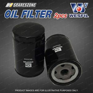 2 x Wesfil Oil Filters for Ldv T60 V80 Turbo Diesel 4Cyl CRD DOHC 16V