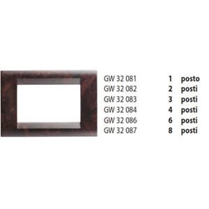 Gewiss-Plakette-3-Setzt-Wurzelholz-Englisch-GW32083-Playbus