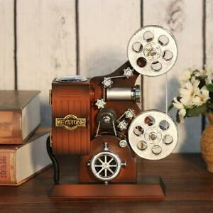 Retro-Wood-Metal-Projector-Model-Music-Box-Antique-Musical-Jewelry-Boxes-Gift