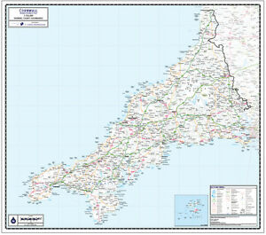 Cornwall county wall map map scale 1150000 ebay image is loading cornwall county wall map map scale 1 150 gumiabroncs Choice Image