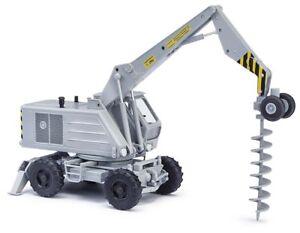 Busch-42893-Weimar-Excavator-T-174-2-With-Twist-Drills-Car-Model-1-87-H0