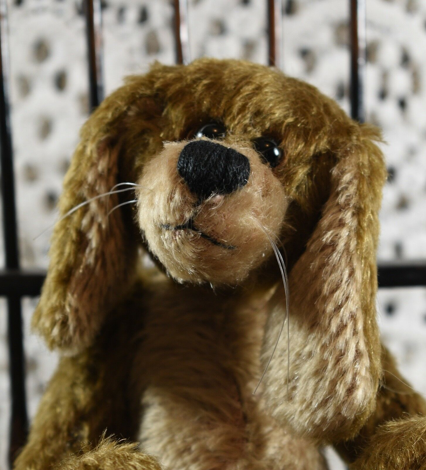Cute One of a a a Kind rot or Ted Lesley Cope Artist Bear 'Roger' Bunny Rabbit 59f2ee