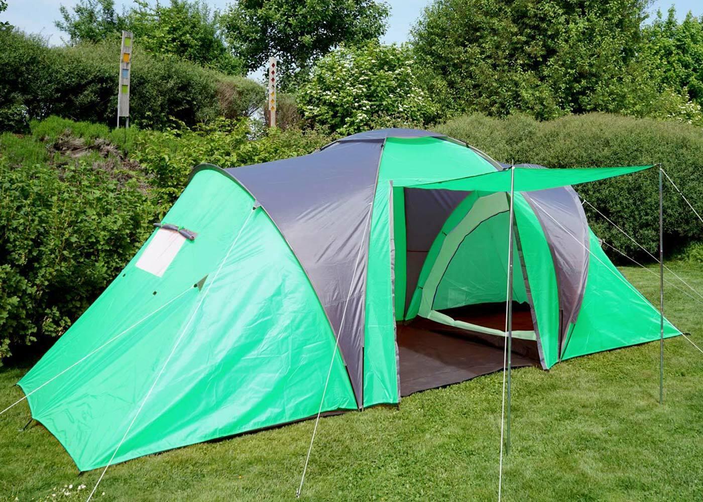 Tenda da da da campeggio Loksa, 4uomo Cupola Tenda Igloo Tenda FestivalTenda, 4 persone verde afa471