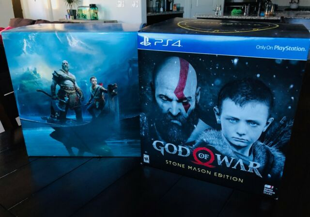 God Of War Stone Mason Collector S Limited Edition Box Only No Game Sony Ps4