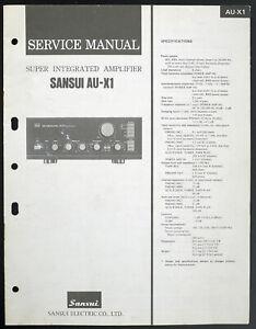 Sansui-AU-X1-Original-Amplificateur-Integre-Manuel-de-Service-Diagram-Pieces