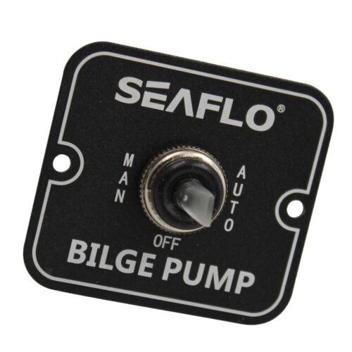 SEAFLO 2-Way Bilge Pump Switch Panel Off-On 12V 24V